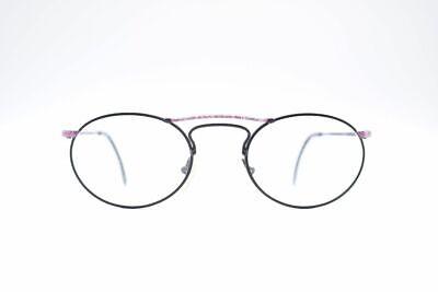 Vintage Wagner und Kühner 2047 50[]20 135 Schwarz Rosa oval Brille NOS