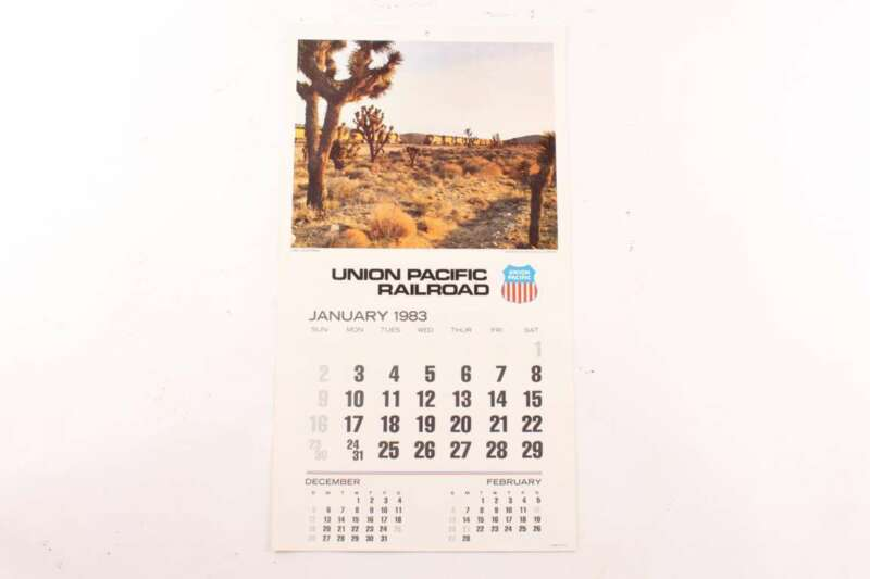 Original NOS 1983 Union Pacific Railroad Calendar Never Used
