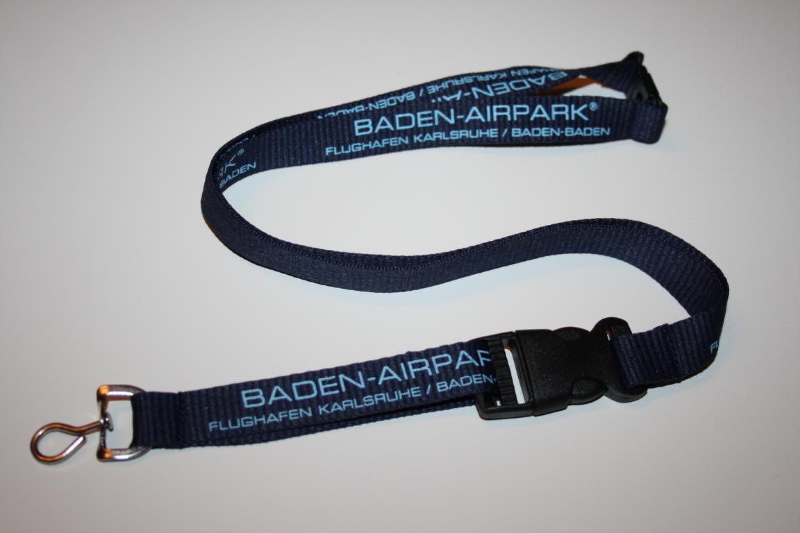 Baden Airpark Flughafen Karlsruhe Baden-Baden Schlüsselband / Lanyard NEU!!