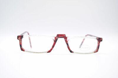 Vintage Online  7295 52[]22 145 Transparent Rot oval Brille eyeglasses NOS
