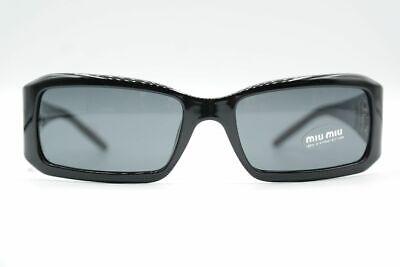 Vintage Miu Miu SMU07H Schwarz eckig Sonnenbrille sunglasses Brille NOS