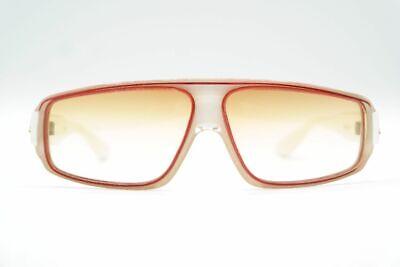 Vintage Maxim J De Paris 4930 Weiß Rot oval Sonnenbrille sunglasses Brille NOS