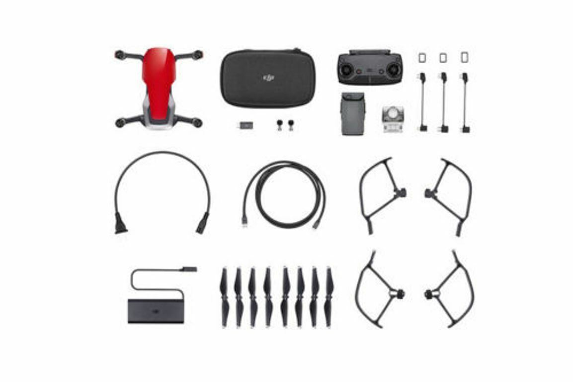 DJI Mavic Air Flame Red Drone with 4K Camera, 32MP Sphere Panoramas - Foldable