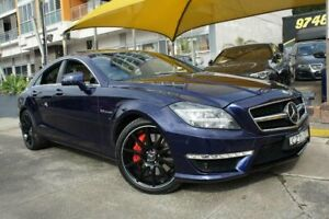 2013 Mercedes-Benz CLS63 S 218 MY13 Update AMG Blue 7 Speed Automatic G-Tronic Coupe Homebush Strathfield Area Preview