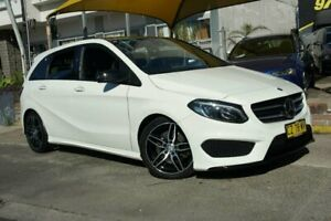 2015 Mercedes-Benz B250 246 MY15 4Matic White 7 Speed Auto Direct Shift Hatchback Homebush Strathfield Area Preview