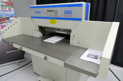 Duplo 660 Automated 263.5 Paper Cutter Triumph Challenge Martin Yale