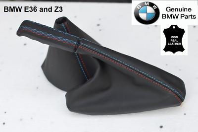FITS BMW 3 SERIES E36 M3 91-98 SHIFT BOOT E BRAKE GREY LEATHER M //////