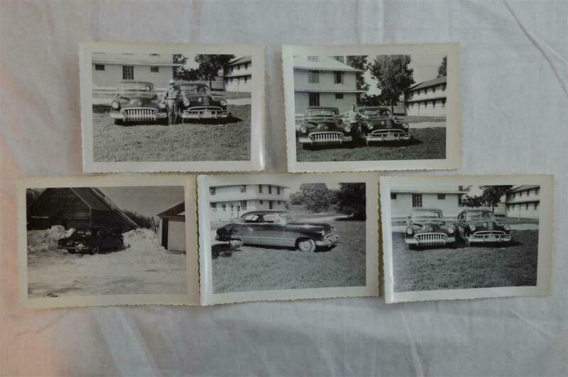 Vintage Car Photos Man w/ 1950 Buick & 1949 Pontiac 957004