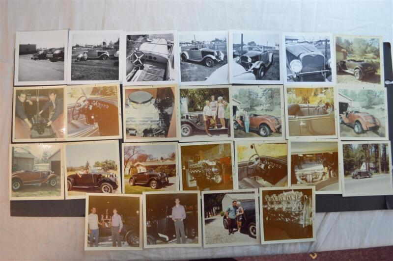 Lot of 25 Vintage Photos 1928 Dodge Roadster Custom Hot Rod 923025