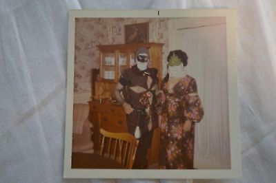 Unusual Vintage Photo People in Costumes & Masks for No Good Reason - People In Masks
