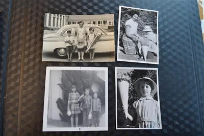 Vintage Photos Boys & Girls w/ Schultüte First Day of School Cones 871 - First Day Of School Girl