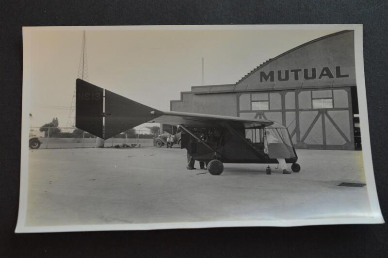 Vintage 1930s Photo AC6/488 Waterman W-4 Arrowplane Airplane 897113