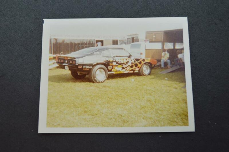 Vintage Car Photo 1970s Ford Maverick Custom Drag Racing Flames 927077