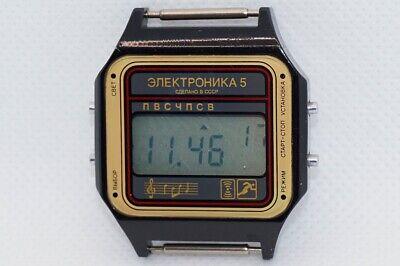 USSR Elektronika 5 (29367) Digital Watch Black Case