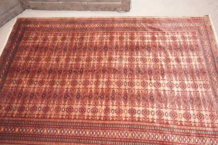 Large Authentic Turkmen Tribal Handmade Persian Rug-234x348cm