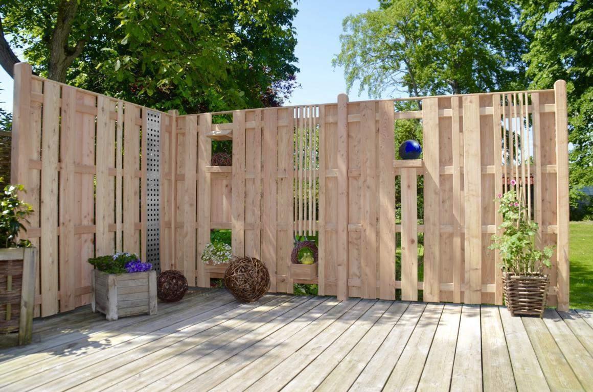 Sichtschutzzaun Orlando Larche Windschutz Gartenzaun Holzzaun