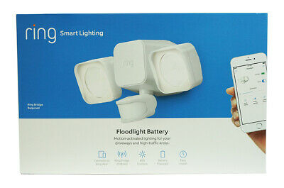 Ring  Smart Lighting Motion-Activated Floodlight Battery, Wo