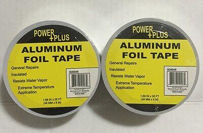 2 Pc Aluminum Foil Tape Heat Shield Tape 1.88x 26 Ft48mmx8m