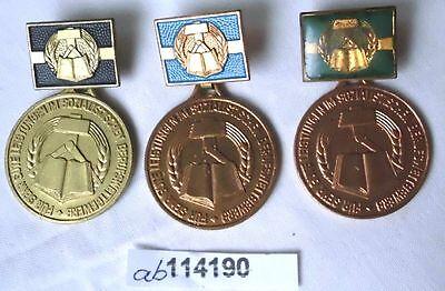 3 verschiedene DDR Abzeichen im sozialistischen Berufswettbewerb (114190)