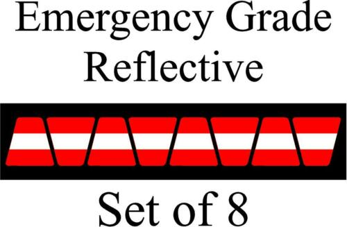 Red w/ White Stripe HELMET TETS TETRAHEDRONS HELMET STICKER  EMT REFLECTIVE