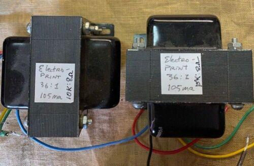 RARE Pair ElectroPrint output transformers! 36:1 ratio 105ma 10K:8 ohm EL34