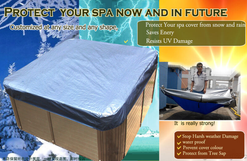 231x231x30 cm Hot Tub Spa Cover Cap Waterproof Protector Fabric ,fits jacuzzi