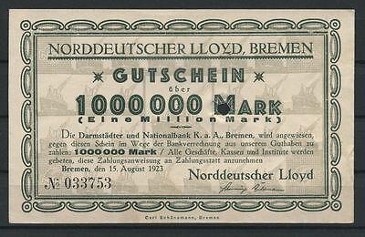 Bremen  -  Norddeutscher Lloyd   -   1 Mio. Mark