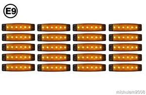 20 x 6 LED 24V Seitenmarkierungsleuchten für Lkw DAF Man Volvo Scania Orange E9