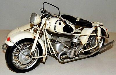 Motorrad + Beiwagen Blechmotorrad Blechmodell Tin Model Vintage Bike 26 cm 37092