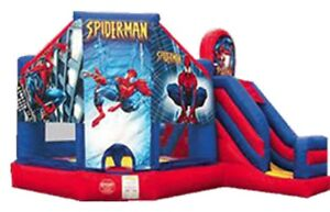 Cheap Disney Princess or Spider-Man Castle Combo With Slide Hire Croydon Burwood Area Preview