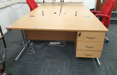 Used Beech Effect Office / Home Desk ** Collection Only **