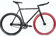 New District Fixie/Fixed Gear/Single Speed Bike, Red and Black Scarborough Stirling Area Preview