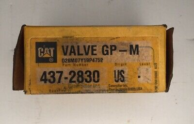 Caterpillar Oem Make Up Valve 437-2830. Cat Factory Nos Valve 4372830.