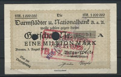 Bremen  -  Atlas-Werke  -  1 Mio. Mark  -  Darmstädter Nationalbank     (RO-35)