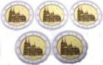 Duitsland  2011  5 x 2 euro commemo  Keulen  Letter ADFGJ  UNC uit de rol !!
