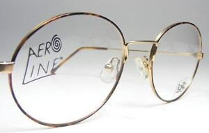 90s nos gold tortoise shell metal vintage oval eyeglass