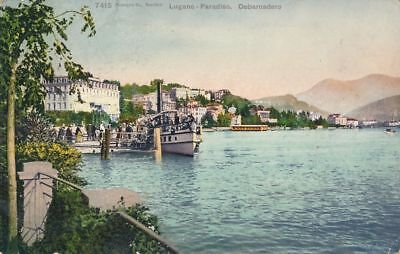AK, Grafik, Lugano - Paradiso, Debarcadero, 1907; 5026-106