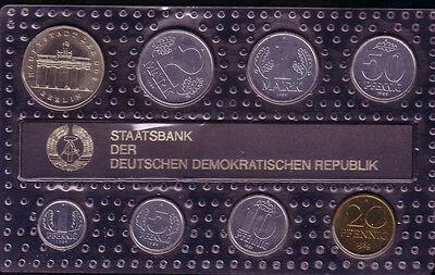 1989 - DDR Kursmünzensatz, stempelglanz