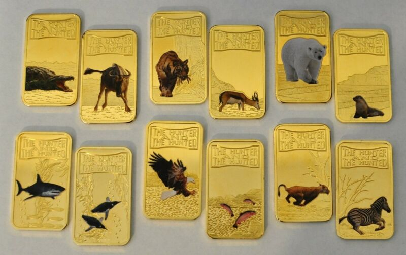 Somalia 2013 Amazing and Menacing-The Hunter and Hunted Series 12 Coin Ingot Set