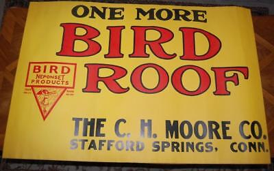 BIRD ROOF NEPONSET SHINGLES DUCKINE HARDWARE PAINT STORE SIGN POSTER CH MOORE CT