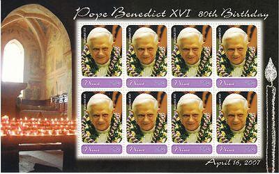 Niue 2007 Mi. 1150 KB ** MNH 80. Geburtstag Pope Papst Benedikt XVI.