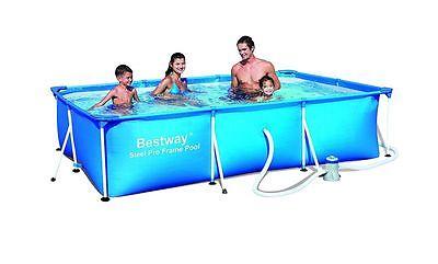 Bestway 56078 Frame Pool Stahlrahmenbecken 300 x 201 x 66cm + Filterpumpe M47