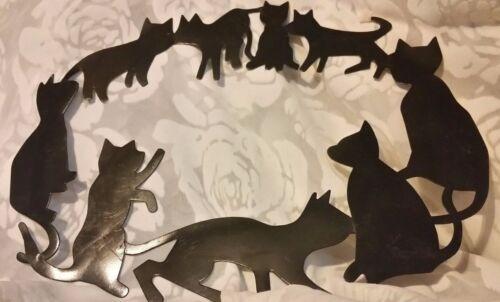 Vintage Metal Cat Kitten Decor Hanging Wall Mount Plaque