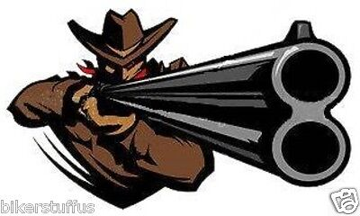COWBOY WITH A SHOT HELMET STICKER HARD HAT STICKER BUMPER STICKER - Cowboy Hat Helmet