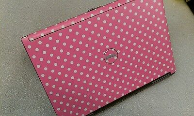 Pink Dots - Dell D630 Dual Core 1.8Ghz DVDRW Laptop Win7 LibreOffice WiFi Webcam on Rummage