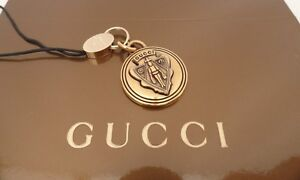 BN-Auth-Gucci-Unique-Gold-Logo-Crest-Keyring-Keyfob-Phone-Charm-Super-Gift