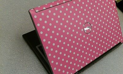Pink Dots- DELL D630 Core 2 Duo 2GB DVDRW WiFI Ready Fast LAPTOP Webcam  on Rummage