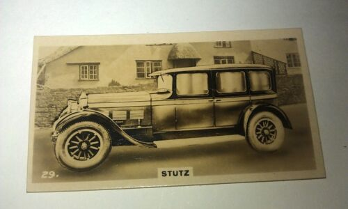 STUTZ   -  Wills New Zealand Real Photo Cigarette Card Issued 1926