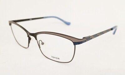 KENSIE Edge eyeglasses Frame Black Grey Blue 53mm WOMEN Browline (Browline Glasses For Women)