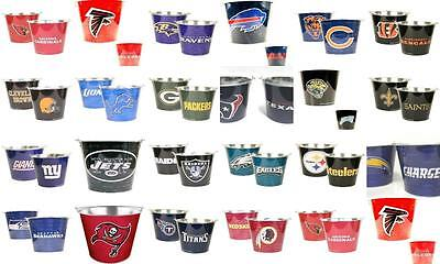 New NFL Logo Beer Bucket Party Bar Drink ICE Holder Tailgate Tin Great Fan - Nfl Party